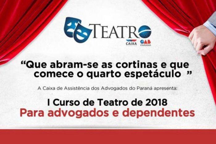 Caixa dos Advogados abre inscrições para o I Curso de Teatro de 2018