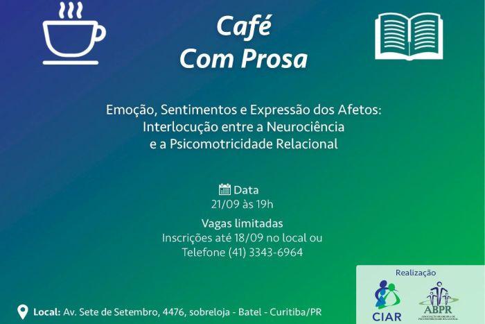 Café com Prosa do CIAR de Curitiba