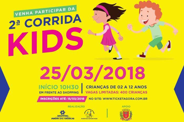 2ª Corrida Kids no Shopping Jardim das Américas