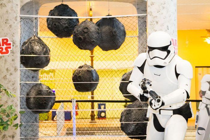 Atração Star Wars no Shopping Estação