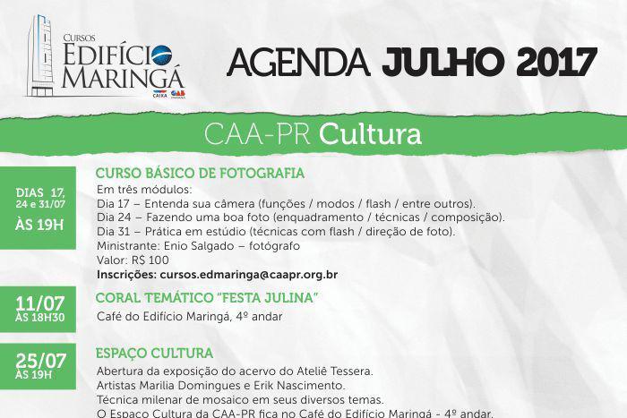 Programação de julho do Edifício Maringá começa dia 11 com atração musical