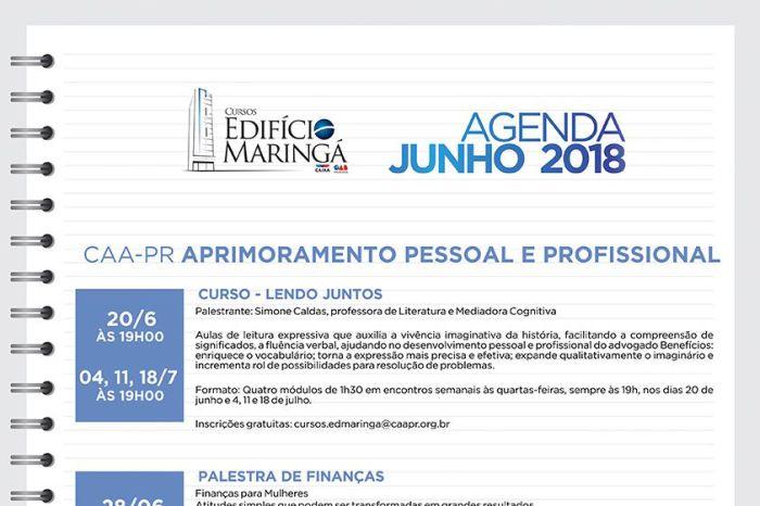 Diversas atividades para advogados e dependentes em junho no Edifício Maringá