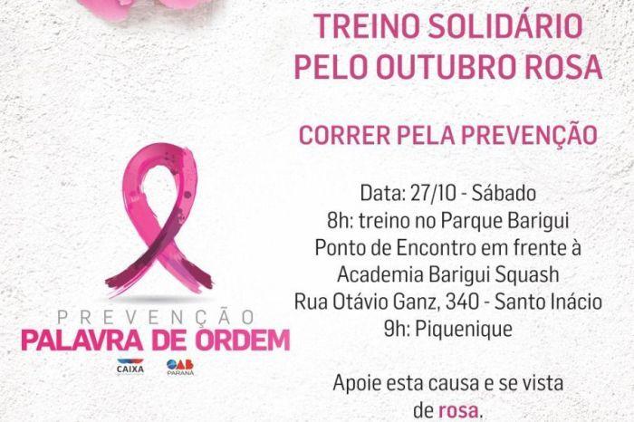 Atletas do Corrida Legal se vestem de rosa em apoio à campanha contra o câncer de mama