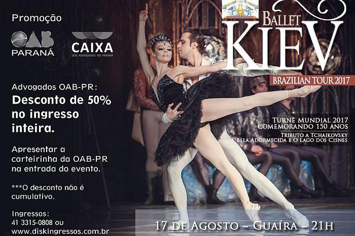 Advogados pagam meia entrada para assistir o Kiev Ballet