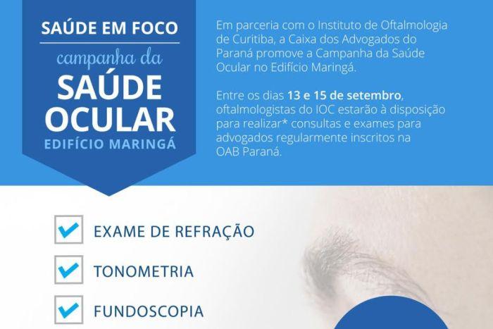 CAA-PR promove campanha de Saúde Ocular em Curitiba
