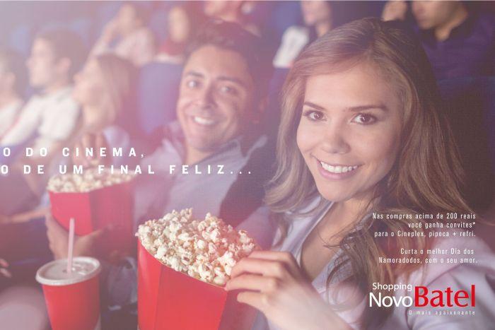 Ingressos para cinema e jantar romântico compõem Campanha do Dia dos Namorados do Novo Batel
