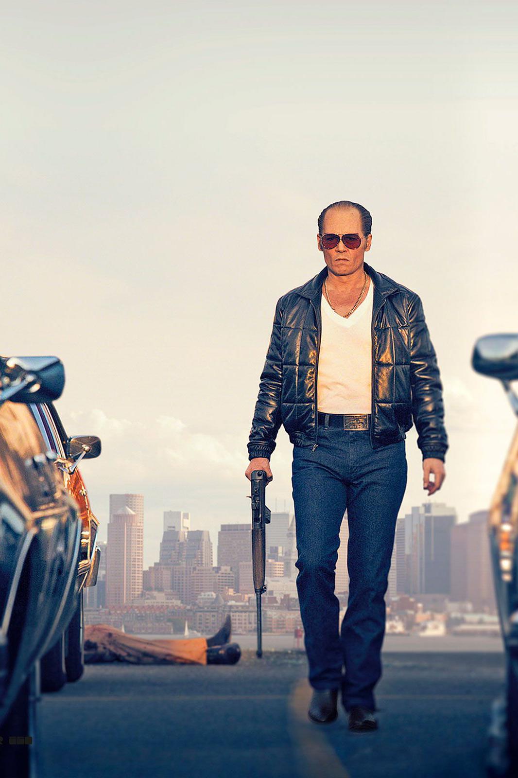 Johnny Depp na telona como um dos criminosos mais famosos dos EUA