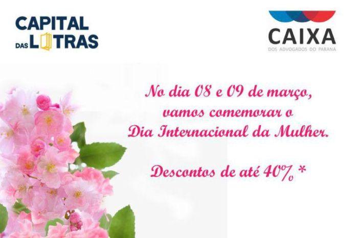 Livraria da CAA/PR lança campanha promocional para advogadas no mês da mulher