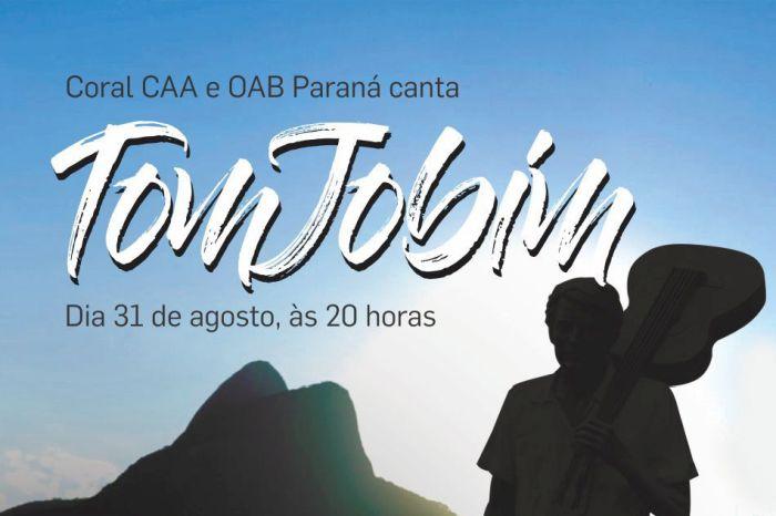 Coral da CAA e OAB Paraná canta Tom Jobim em evento beneficente