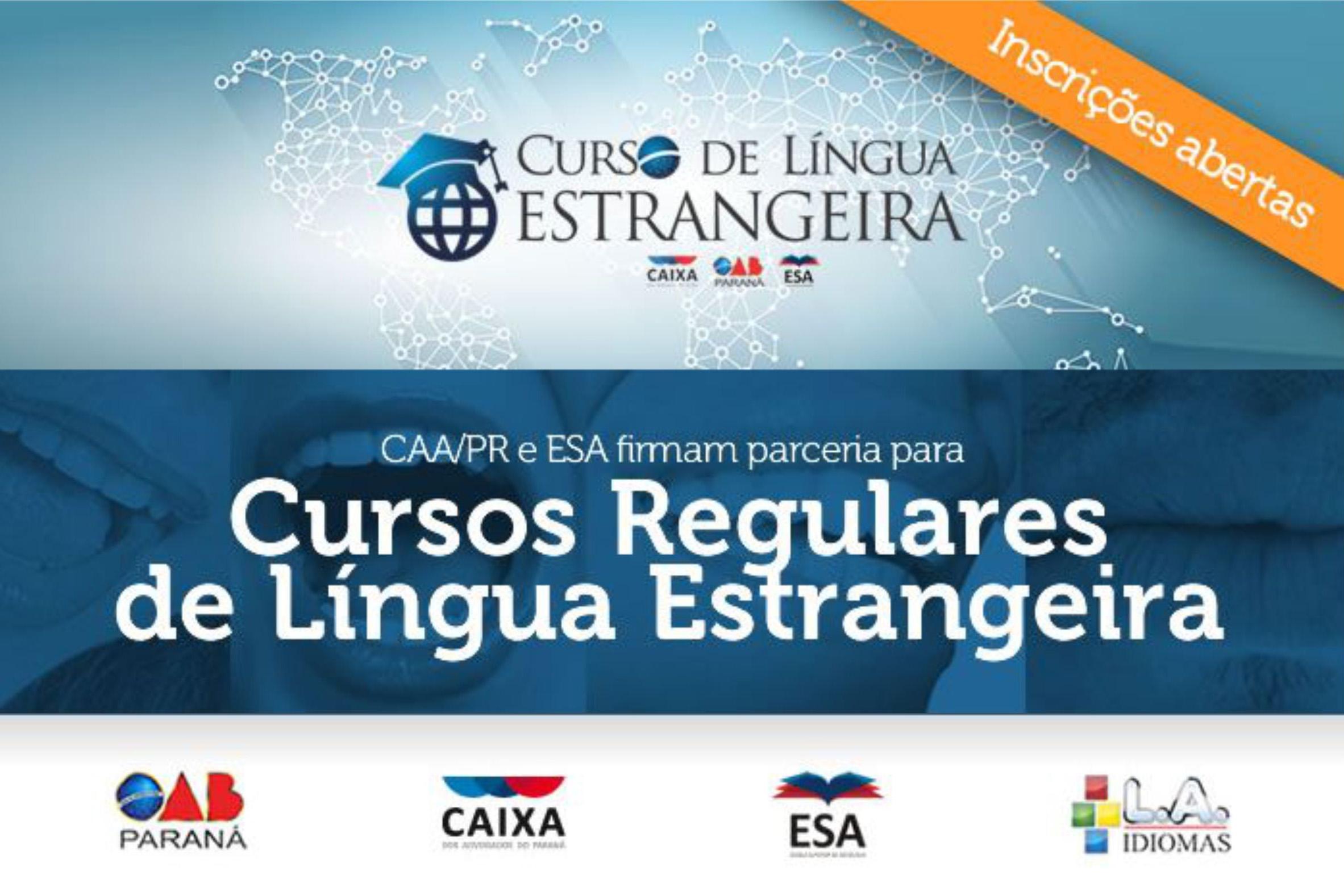CAA-PR e ESA oferecem cursos de língua estrangeira no Edifício Maringá