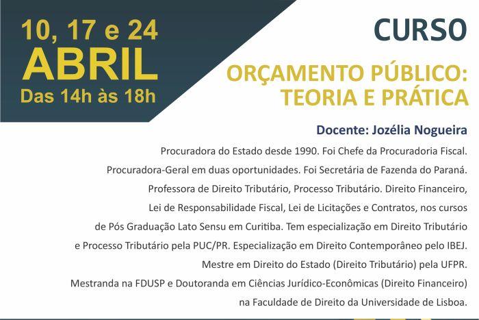 Escola Superior da PGE-PR promove curso sobre Orçamento Público