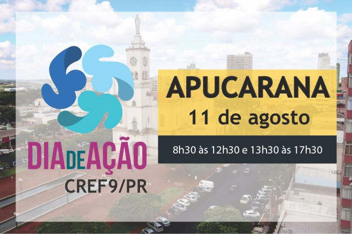 CREF9/PR leva capacitação para Apucarana com atividades do Dia de Ação