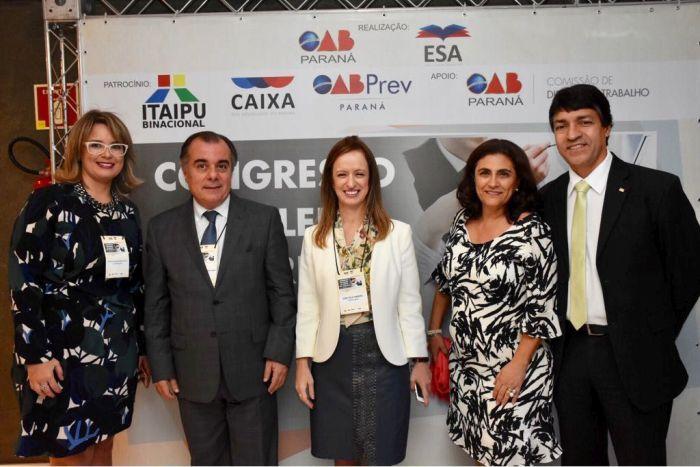 Presidente e secretária-geral da CAA/PR prestigiam Congresso de Direito do Trabalho
