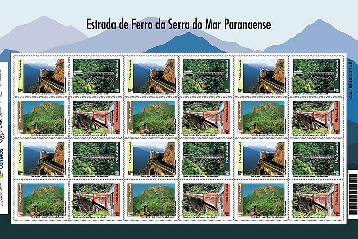 Trens da Serra Verde Express estampam novos selos dos Correios