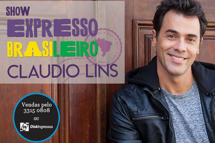 Advogados têm 50% de desconto para assistir o show Expresso Brasileiro – Claudio Lins
