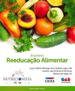 CAA-PR inicia série de encontros sobre alimentação saudável nesta quarta-feira (7)