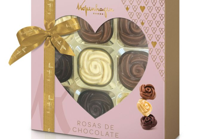 Kopenhagen aposta em rosas de chocolate para o Dia das Mães