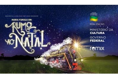 Maria Fumaça Iluminada traz cultura e história a Curitiba e região com o espetáculo Rumo ao Natal