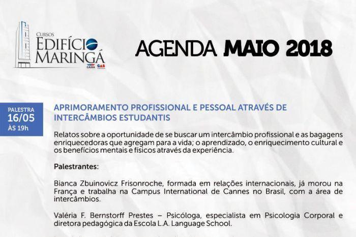 Edifício Maringá da CAA/PR tem programação especial neste mês de maio