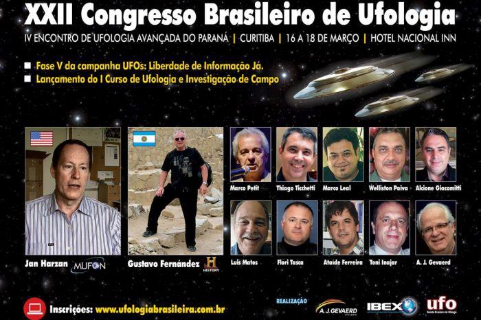 Mistérios ufológicos integram conteúdo de palestras do XXII Congresso Brasileiro de Ufologia