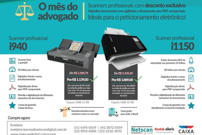 Netscan Digital preparou ofertas exclusivas para o mês do advogado