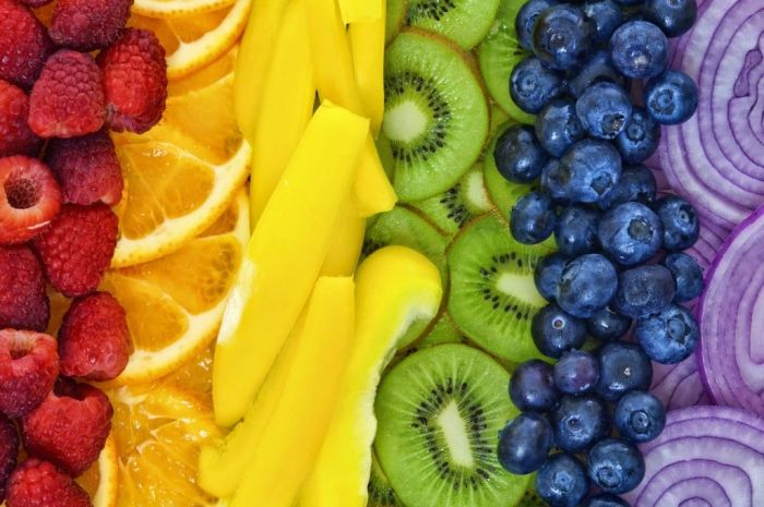 Quanto mais cores, mais nutrientes