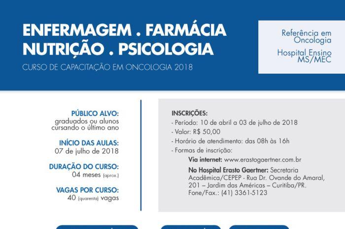 Hospital Erasto Gaertner oferece Curso de Capacitação em Oncologia