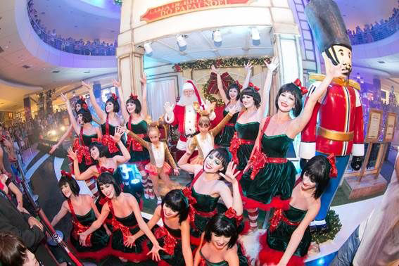 ParkShoppingBarigüi comemora o Natal com show de luzes e dança