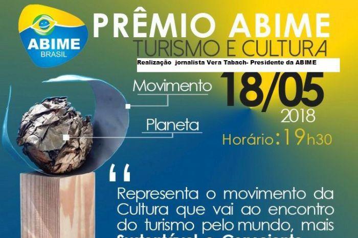 I prêmio ABIME turismo e cultura no Museu do Futebol - SP