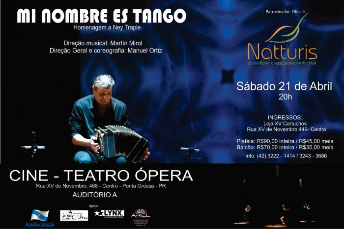 Sábado é noite de tango no Cine Teatro Ópera de Ponta Grossa