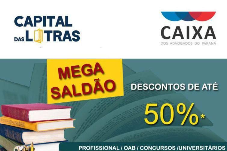 Mega saldão da Livraria da CAA/PR tem descontos de até 50%