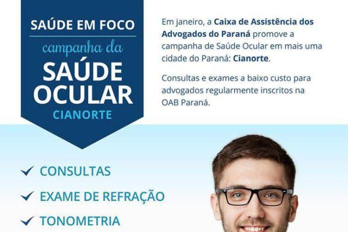 Caixa dos Advogados promove campanha de saúde ocular em Cianorte
