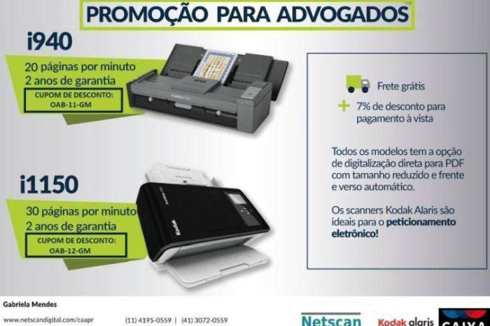 Conveniada da CAA/PR oferece condições especiais na aquisição de scanners