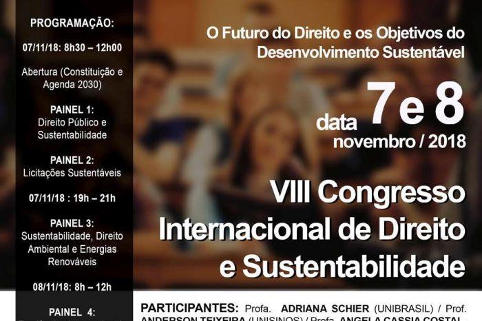 Congresso em Curitiba aborda Direito e desenvolvimento sustentável