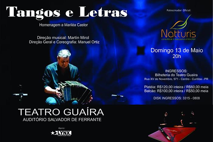 Tango e poesia se misturam em musical no Guairinha