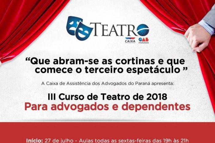 Abertas as inscrições para nova turma do curso de teatro da CAA/PR