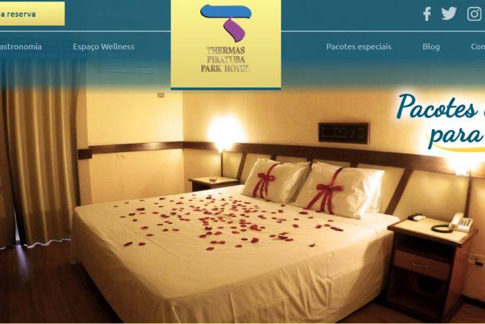 Thermas Piratuba Park Hotel lança novo site e comemora com promoção em pacote romântico
