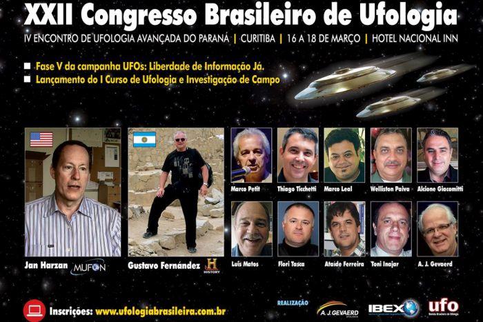 Ufólogo dos EUA revela segredo do Pentágono no Congresso de Ufologia em Curitiba