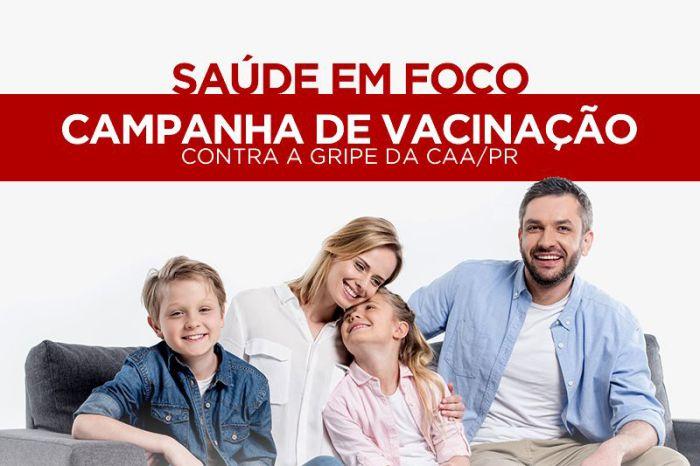 Campanha de vacinação contra a gripe da CAA/PR inicia dia 11 abril
