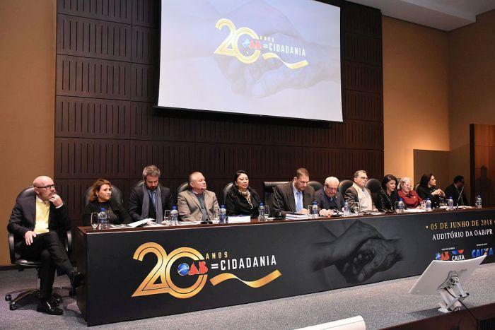 CAA/PR participa das celebrações dos 20 anos do projeto OAB Cidadania